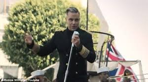 robbie williams sails ship in la in music video for new song go