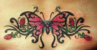 dainty tribal lower back tattos tribal beautiful butterfly lower