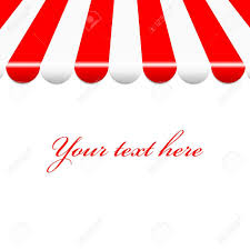 White Awning Background With Red And White Awning Royalty Free Cliparts