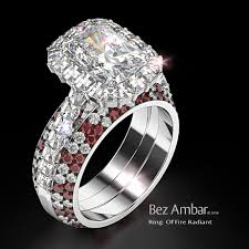 Wedding Ring Enhancers by Radiant Cut Diamond Ring Of Fire Red White Ring Enhancers