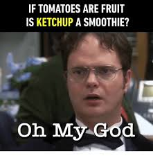 Oh My God Meme - if tomatoes are fruit is ketchup a smoothie oh my god god meme on