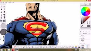 superman copy speedpaint sketchbook pro youtube