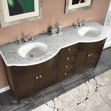 6717 wm 72 72 double sink vanity carrara white marble top cabinet