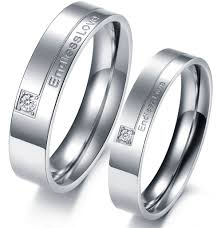 promise ring sets endless titanium stainless steel mens promise