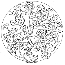 mandala domandalas roses and cat mandalas coloring pages for