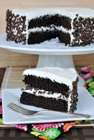 dark chocolate cake with vanilla frosting recipe dark