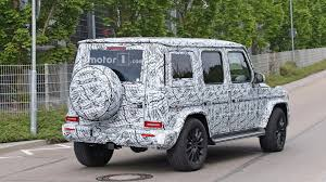 mercedes g wagon green 2019 mercedes g class spied up close in standard and amg trims