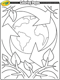 earth day recycling coloring page crayola com