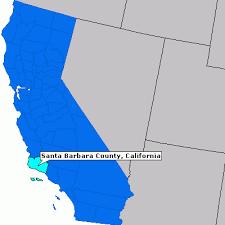 santa barbara california map santa barbara county california county information epodunk