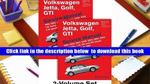 audiobook volkswagen jetta golf gti a4 service manual 1999
