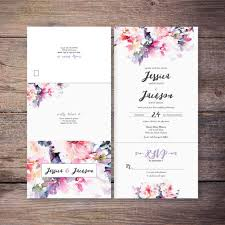 flower wedding invitations wedding corners