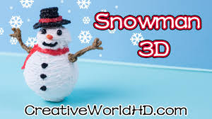 how to make snowman ornaments 3d printing pen