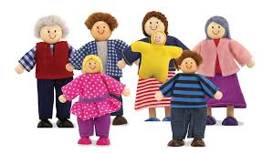 doug 7 poseable wooden doll family for doll s
