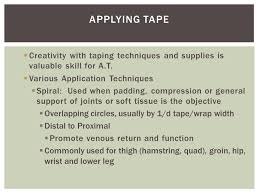 athletic taping padding and bracing ppt video online download