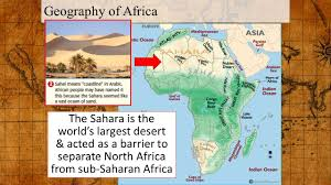 Sub Saharan Africa Physical Map by Accelerated World History October 19 Warm Up U2013 October 19 2015