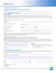 fillable online application for corporate card american express