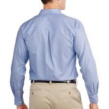 george men u0027s long sleeve no iron dress shirt walmart com