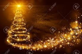 bright star lights christmas christmas magic tree with bright star on golden background royalty