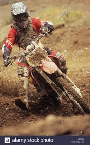 motocross pro racer covered in mud at motocross pro nationals nanaimo