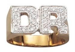 rings with initials diamond initial rings men s 14k gold diamond initial ring with