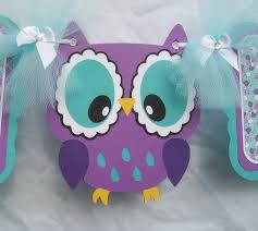 Owl Decorations by Teal Baby Shower Decorations