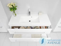 Wash Basin Vanity Unit Contemporary Two Drawer Vanity Unit White Resin Stone Wash Basin