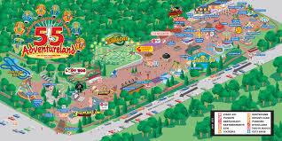 Us New York Map by Adventureland Amusement Park Attractions Map Adventureland