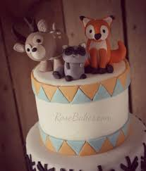 woodland cake toppers woodland animals cake with arrows birch tree animal cakes