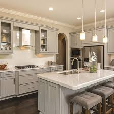 light gray painted kitchen cabinets statement echelon cabinetry starts with striking