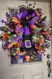 Witch Wreath Halloween by Kristen U0027s Creations Halloween Mesh Wreath