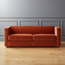 Orange Sofa Bed Modern Sofas And Couches Cb2