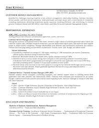 customer service manager resume http www resumecareer info