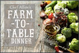 farm to table dinner books books chef allen s monthly farm to table dinner coral