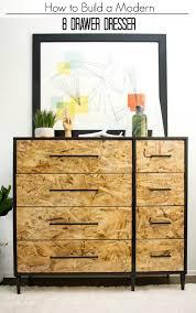 diy dresser pneumatic addict how to build a modern 8 drawer dresser