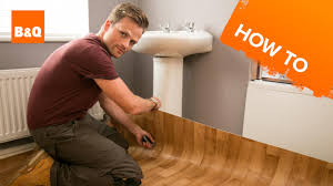 Is It Ok To Put Laminate Flooring In A Bathroom How To Lay Sheet Vinyl Flooring Youtube