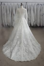 wedding dress muslimah simple aliexpress buy sleeve zuhair murad wedding dress muslim