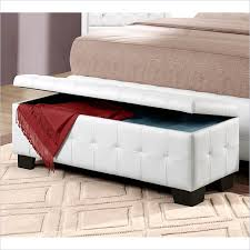 White Leather Storage Ottoman White Leather Small Entryway Storage Bench Home Inspirations
