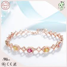 stone silver bracelet images High quality beautiful luxurious korean style rose gold colorful jpg