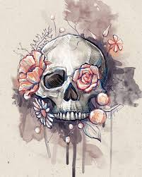 pictures of skulls with flowers best 25 flower skull tattoos ideas