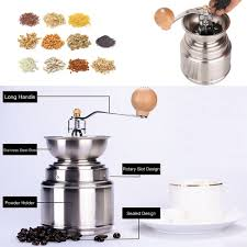 portable manual coffee grinder with adjustable ceramic burr sales