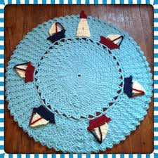 Round Nautical Rugs Shop Area Rugs For Nursery On Wanelo