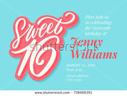sweet 16 invitation stock images royalty free images u0026 vectors