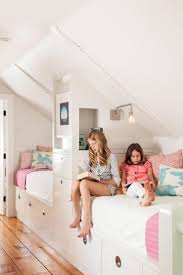 kid room on pinterest slanted ceiling bunk bed and window seats