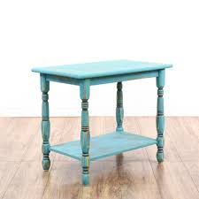 Shabby Chic Table by Blue Shabby Chic Turned Wood Tiered End Table Blue Shabby Chic