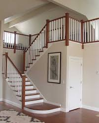 Painted Banister Ideas Stair Fancy Half Turn Staircase Decorating Design Ideas Including