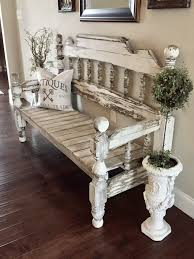 How To Start A Decorating Business From Home Bench Made From Full Size Headboard And Footboard