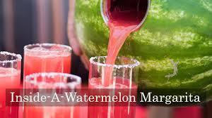 watermelon margarita inside a watermelon margarita recipe youtube