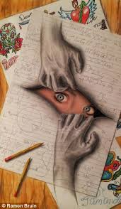 the pictures that draw you in amazing 3d sketches that look as