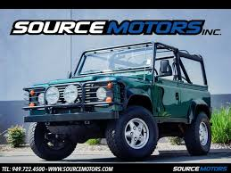 1997 land rover defender 90 1997 land rover defender 90 st nas for sale in orange county ca