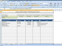 Property Management Excel Template Home Improvement Tracking Template In Excel By Timesavingtemplates